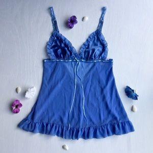 Victoria's Secret - Silk, Ribbon, Blue Lingerie